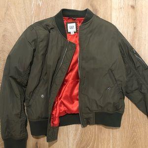 Gap Nylon Bomber Surplus Jacket